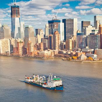 Les lumières de Manhattan, l'électricité du New Jersey
